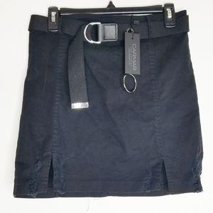 Carmar belted skirt black 12